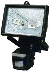 LANDLITE SL-500, 1x500W 118mm R7s halogén fényvető / reflektor, mozgásérzékelővel, fekete