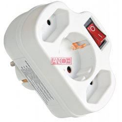 ANCO Adapter 2 + 1 kapcsolóval, fehér