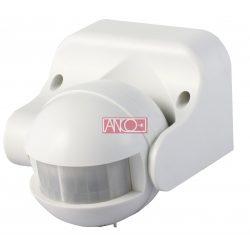 ANCO Mozgásérzékelő függőlegesen állítható 180°, fehér,  max. 12 m, 10 sek - 12 min, 230 V~, 50 Hz, 1200 W (300 VA), IP44