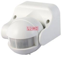 LANDLITE Mozgásérzékelő függőlegesen állítható 180°, fehér,  max. 12 m, 10 sek - 12 min, 230 V~, 50 Hz, 1200 W (300 VA), IP44