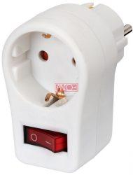 ANCO Köztes dugalj jelzőfényes 2 pólusú kapcsolóval