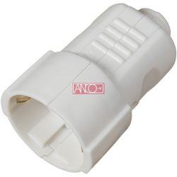 ANCO Földelt PVC lengő dugalj, fehér