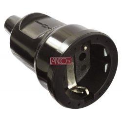 ANCO Földelt PVC dugalj, fekete