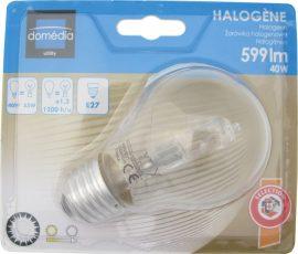 LANDLITE HSL-A55-40W, 230V DOMÉDIA halogén izzó E27 foglalattal (fényárama szabályozható!)