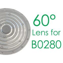 T6227/A0,60 °Lens for B0280  LED High Bay Light, 1-10V dimmable Turbo 279*177mm, 100W, 4000K, IP65