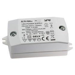 SLT6-700ILS, Állandó feszültség és állandó áram LED tápegység, 6W, 700mA/12V