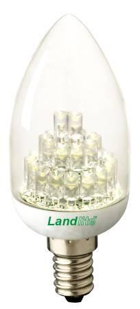 LANDLITE LED-EIC-2W E14,  230V melegfehér, LED izzó