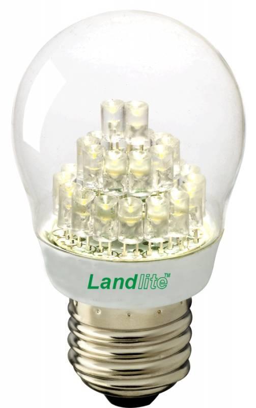 LED-G45-2W E27 230V melegfehér, LED izzó