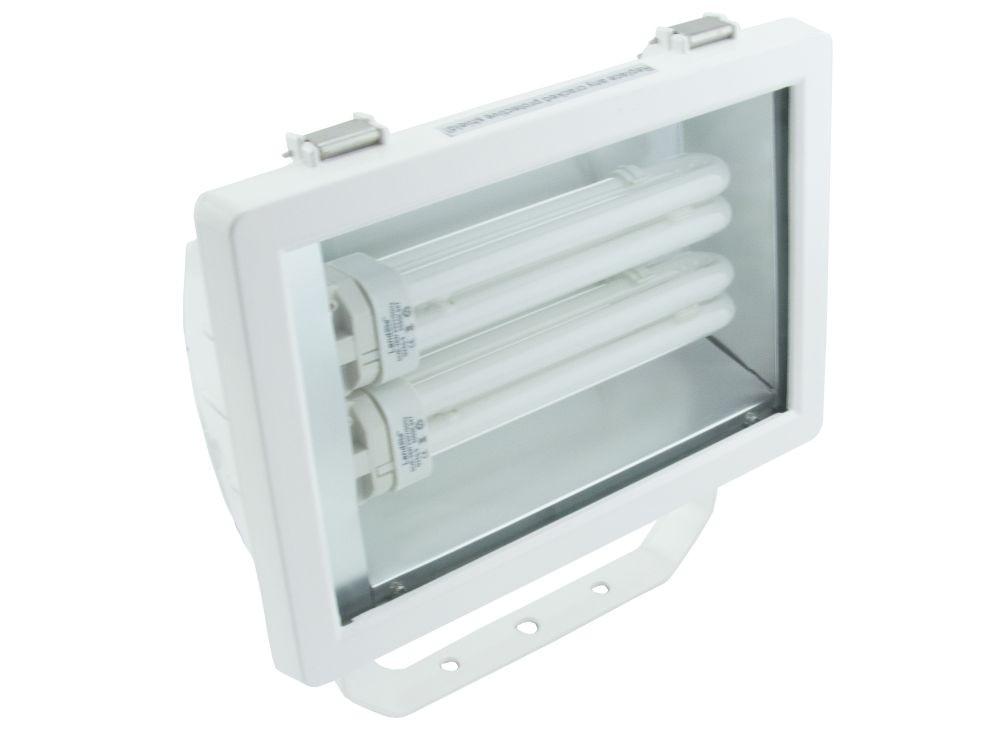 LANDLITE FL-226B, 2X26W G24q-3, fényvető / reflektor (kompakt fénycső mellékelve), fehér