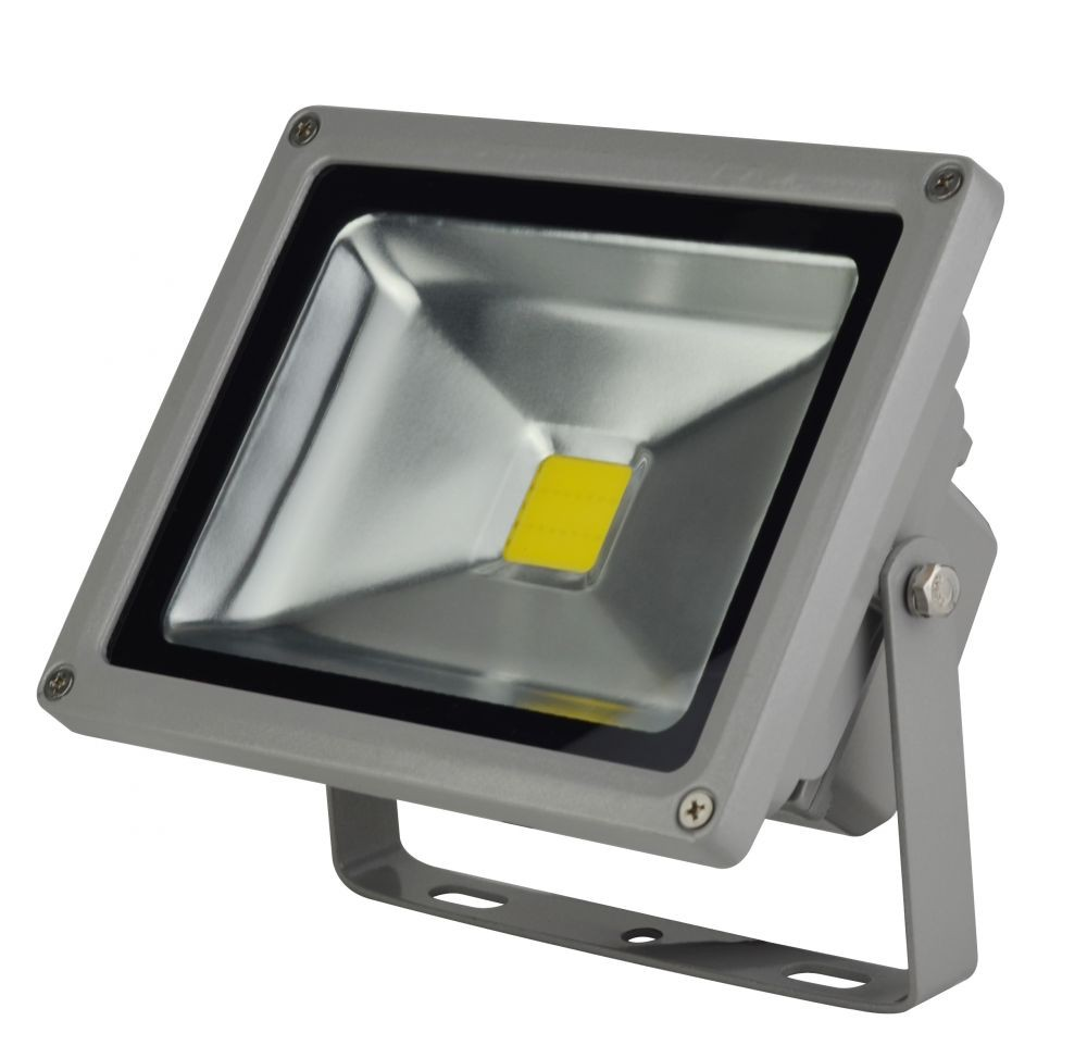 LANDLITE LED-FL-20W, LED Reflektor / LED Fényvető, 4000K hideg fehér, szürke