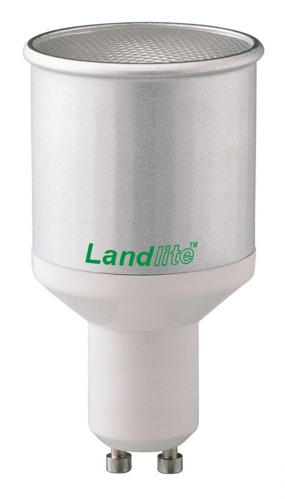 LANDLITE CFL-GU10-13W GU10 230V 8000óra, 2700K, kompakt fénycső (energiatakarékos izzó), (hosszabb, vékonyabb verzió)