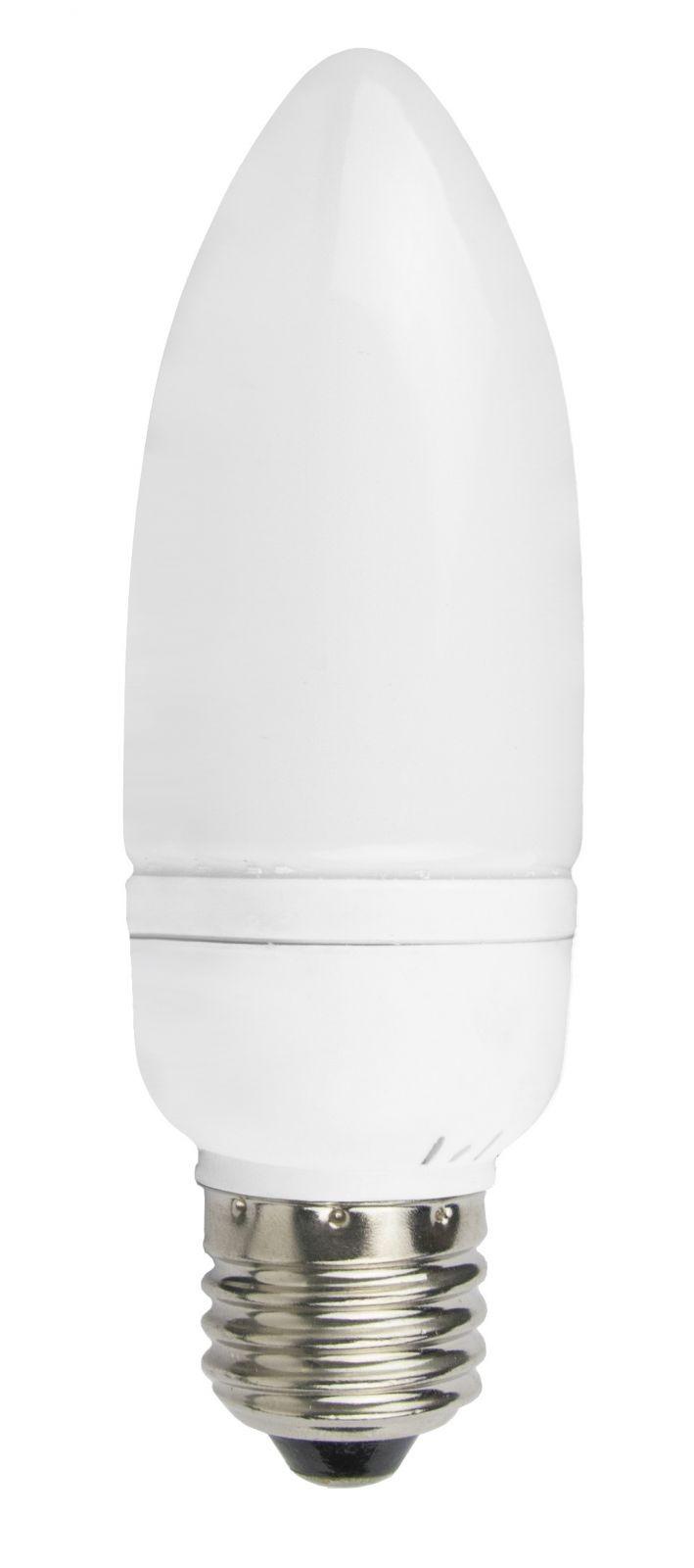 LANDLITE EIC-A-7W E27 230V 8000óra, 2700K nagy gyertya forma, kompakt fénycső (energiatakarékos izzó)