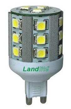 LANDLITE LED-G9-5W 230V melegfehér, LED izzó