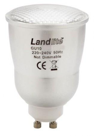 LANDLITE CFL-GU10-10W GU10 230V 8000óra, 2700K, kompakt fénycső (energiatakarékos izzó)