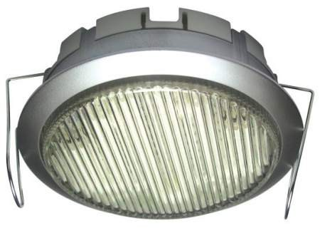 DL-GX53-9W, 1pcs 230V 9W GX53 CFL (energy saving lamp), silver, downlight type, under cabinet light