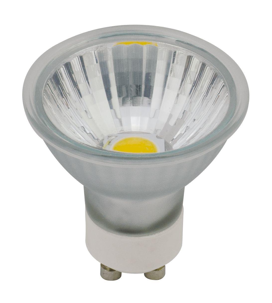 LED-GU10-4W/COB melegfehér spot üveg izzó