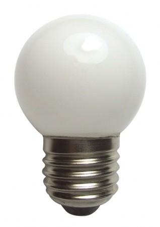 LANDLITE LED-G45 E27 230V 0.4W, LED izzó, piros