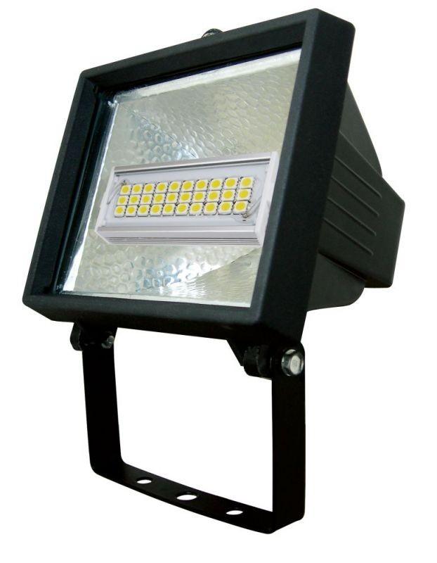 LANDLITE FL-L118-8W, Fényvető (fekete), LED izzó mellékelve