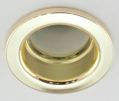 DL-610, 1X230V R50 E14 max 40W, fix kivitel, egyes beépíthető lámpa, arany