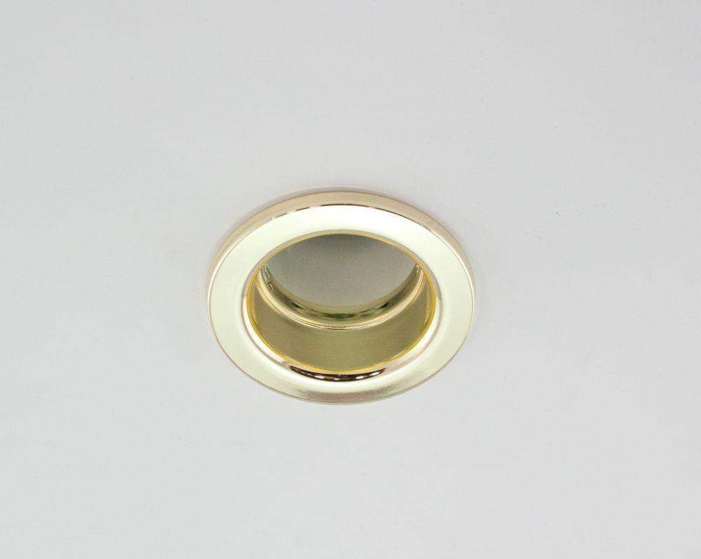 DL-620, 1X230V R63 E27 max 60W, fix kivitel, egyes beépíthető lámpa, arany