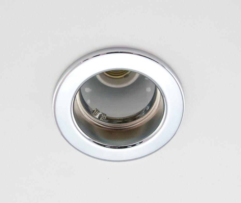 DL-620, 1X230V R63 E27 max 60W, fix kivitel, egyes beépíthető lámpa, króm