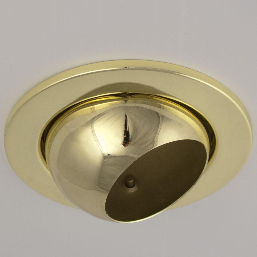 DL-720, 1X230V R63 E27 max 60W, billenthető, egyes beépíthető lámpa, arany