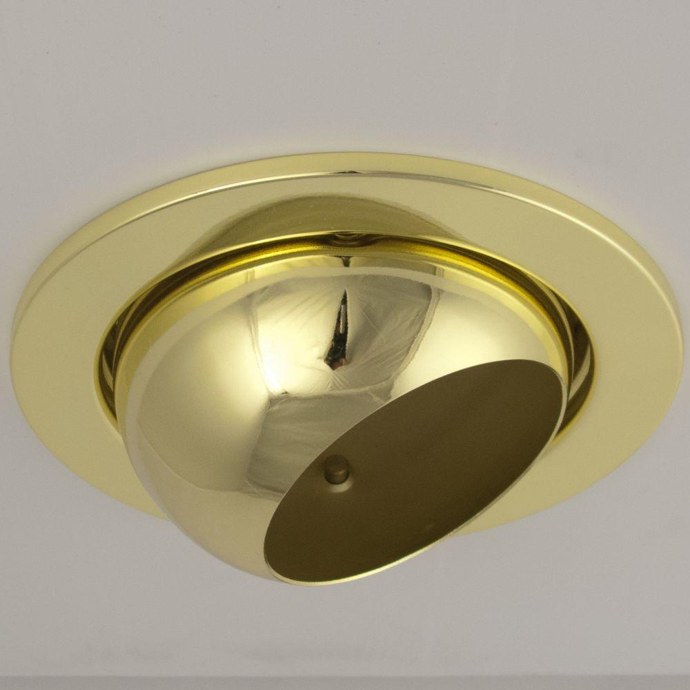 DL-730, 1X230V R80 E27 max 100W, billenthető, egyes beépíthető lámpa, arany