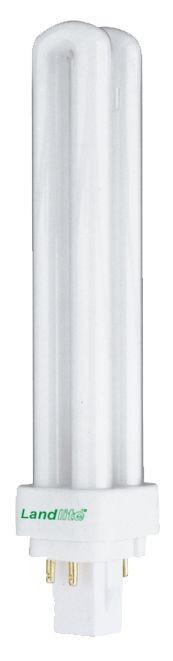 LANDLITE DUE-18W G24q-2 (PLC18W) 8000óra, 4000K, 4 csapos, kompakt fénycső (energiatakarékos izzó)