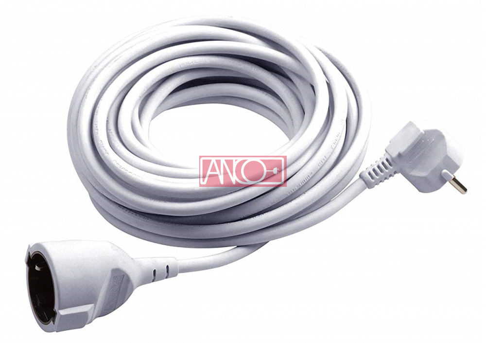 ANCO Lengő hosszabbitó, fehér, 10m