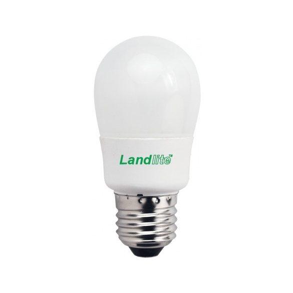 LANDLITE Energiatakarékos, E27, 9W, 450lm, 2700K, SZABÁLYOZHATÓ, kisgömb formájú fényrrás (D-ELG-E27-9W)