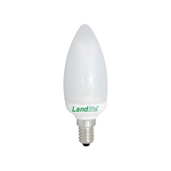 LANDLITE Energiatakarékos, E14, 5W, 350lm, 2700K, gyertya formájú fényforrás (EIC/M-5W)