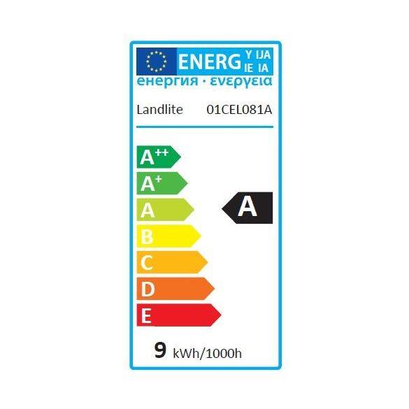 LANDLITE Energiatakarékos, E14, 9W, 450lm, 2700K, SZABÁLYOZHATÓ, gyertya formájú fényforrás (D-EIC-E14-9W)