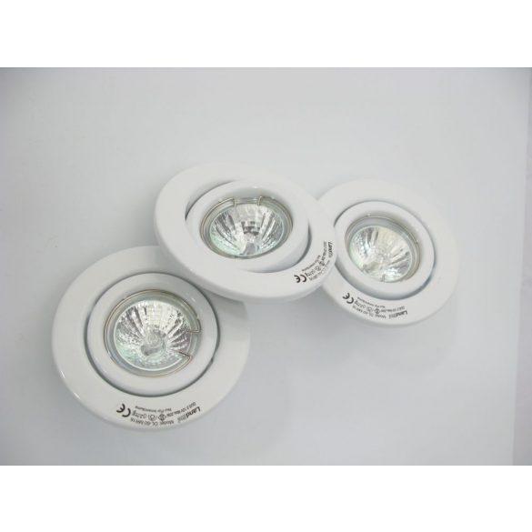 LANDLITE Halogén, GU5.3 (MR16), 3x20W, Ø105mm, billenő, fehér, spot lámpa szett (KIT-60-3)