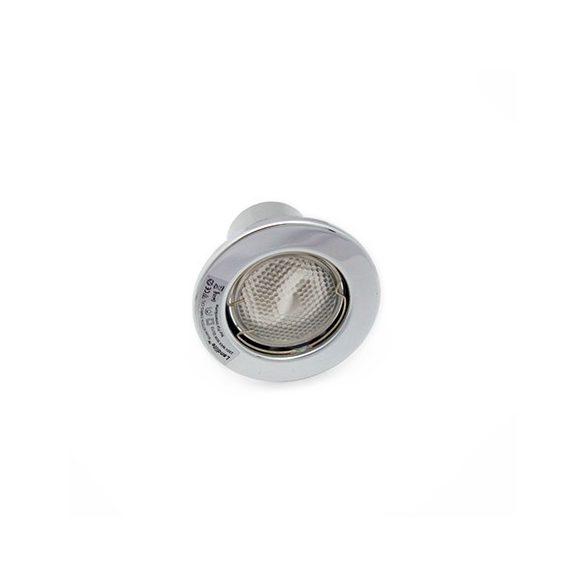 LANDLITE Energiatakarékos, GU10, 3x13W, Ø79mm, fix, matt króm, spot lámpa szett (KIT-57A-3)