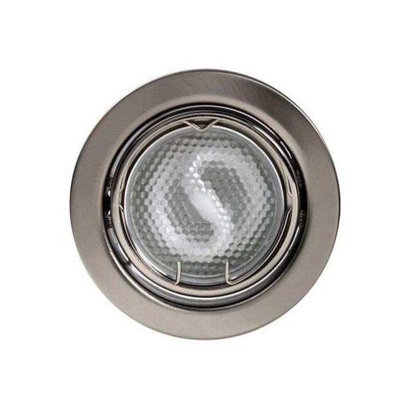 LANDLITE Energiatakarékos, GU10, 3x13W, Ø79mm, billenő, matt króm, spot lámpa szett (KIT-60A-3)