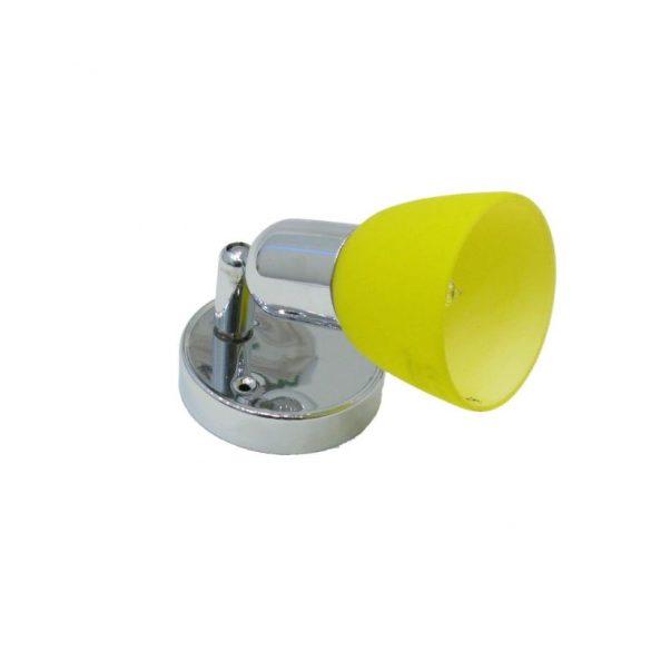 LANDLITE CLE-210A fali spotlámpa,1x60W, sárga búrával,  króm kivitel