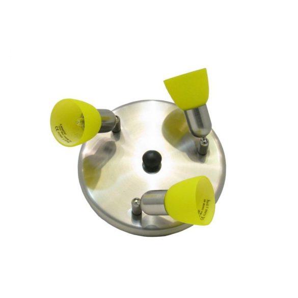 LANDLITE CLE-230A fali spotlámpa,3x60W, sárga búrával, matt króm kivitel