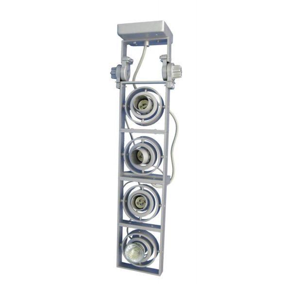 LANDLITE XFGI-4 4x Max 50W GU10 mennyezeti lámpa, ezüst