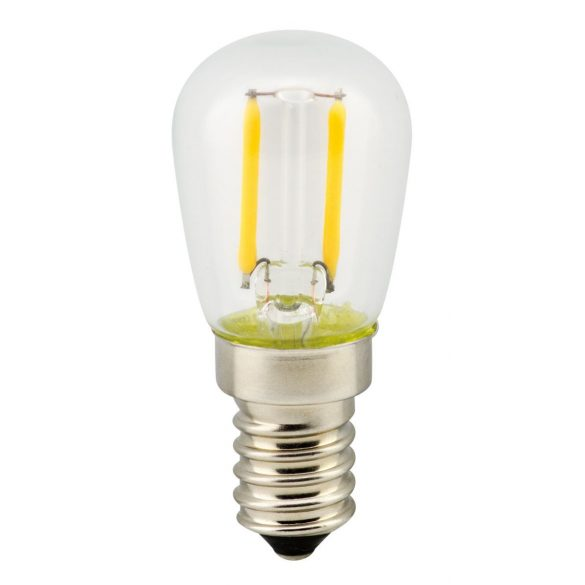 LANDLITE LED filament, E14, 2W, T26, 200lm, 2700K, hűtőszekrény fényforrás (LED-T26-2W/FLT)