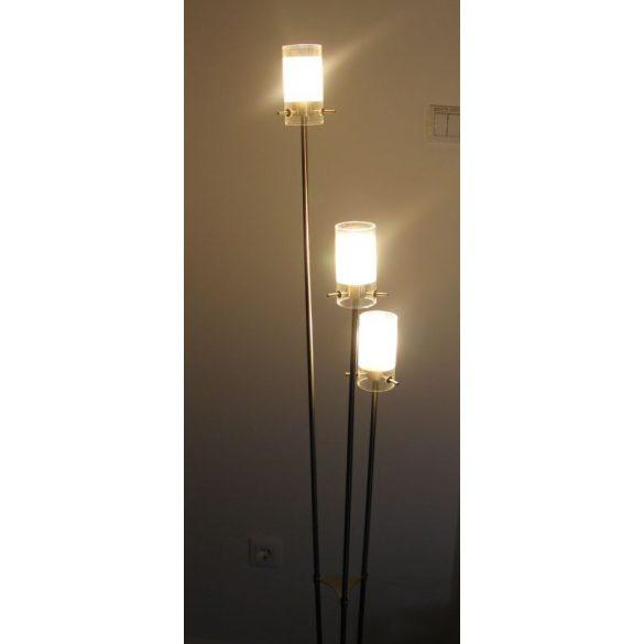 LANDLITE V2056/3F vintage állólámpa, G9, max. 3x40W, fényszabályzóval, halogén fényforrással