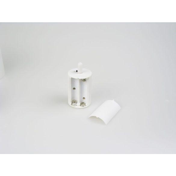 LANDLITE LED/CAL-01, 2 db-os szett, mágikus LED gyertya lámpa készlet, (szín: fehér üveg tartó, fehér műanyag gyertya, sárga villogó LED)