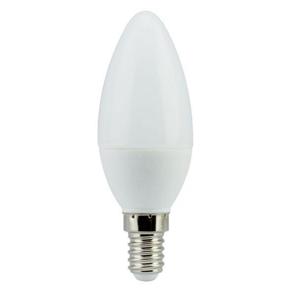 LANDLITE LED, E14, 7W, 470lm, 3000K, gyertya formájú fényforrás (LED-C35-7W/SXW)