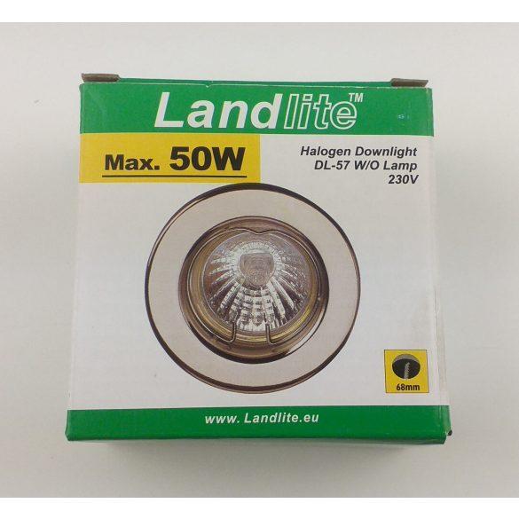 LANDLITE Egyes keret, GU5.3 (MR16) / GU10, fix, egyenes, matt króm, max. 50W, spot keret (DL-57)
