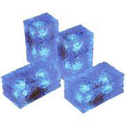 LANDLITE LED-G11-5X0.5W, világoskék jégtégla lámpa (5db-os szett)