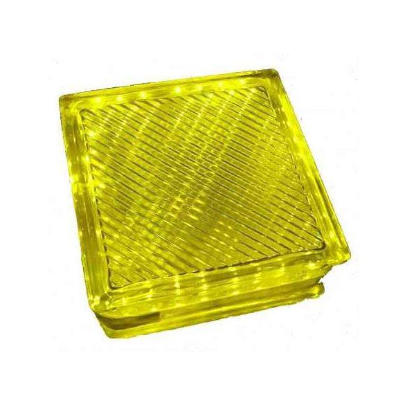 LANDLITE LED-G10-1x2W,  sárga kristálytégla lámpa
