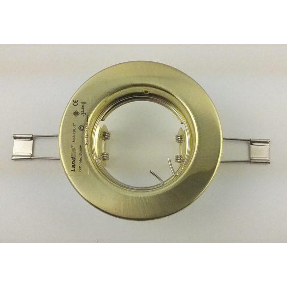 LANDLITE Egyes keret, GU5.3 (MR16) / GU10, fix, egyenes, matt arany, max. 50W, spot keret (DL-57)