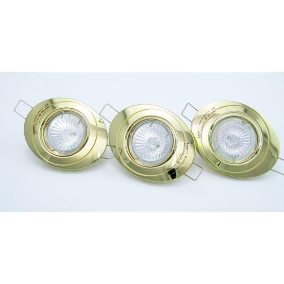 LANDLITE Halogén, GU5.3 (MR16), 3x20W, Ø102mm, billenő, arany, spot lámpa szett (KIT-54-3X20W)