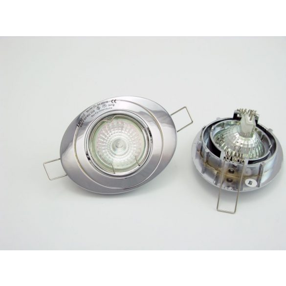 LANDLITE Halogén, GU5.3 (MR16), 3x20W, Ø102mm, billenő, króm, spot lámpa szett (KIT-54-3X20W)