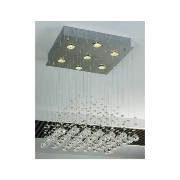 LANDLITE CANNES,MD51104-7B, 7XGU10 50W 230V, kristály lámpa