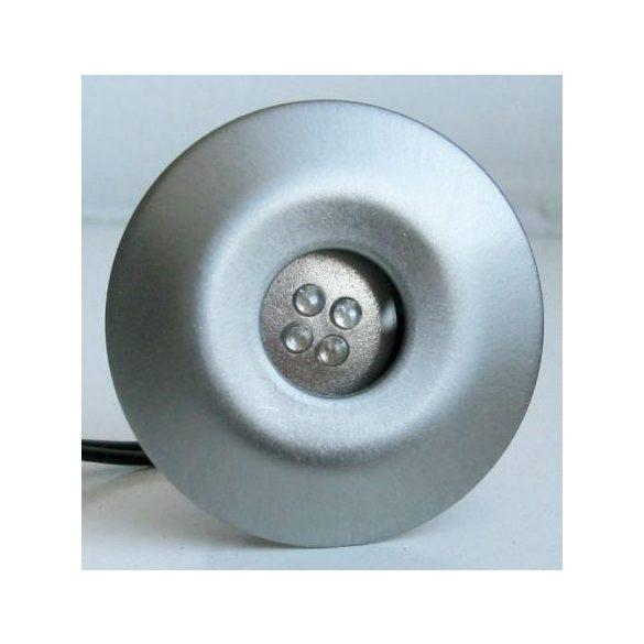 LANDLITE LED-GR02-2X1,0W, 2db-os kiegészíto szett, trafó nélkül, fém szín: matt króm, LED szín: kék, IP44, földbe süllyesztett LED lámpa